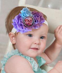 Purple and Blue Anna and Elsa Headband