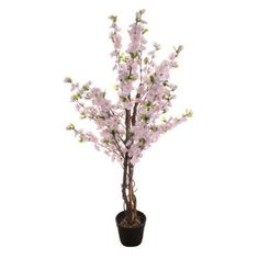Artificial Potted Blossom Tree pink Height 120 cm house plant shrubs flowers Listing in the Artificial Flowers,Decorative,Home & Garden Category on eBid United Kingdom | 144619240