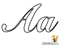 Elegant Cursive Coloring Pages Alphabet to create your own learning letters, cards, and posters. Easy free alphabets in uppercase and lowercase for handwriting practice alphabet charts. Sports Coloring Pages, Coloring Pages For Boys, Printable Coloring Pages, Printable Labels, Printable Alphabet Letters, Cursive Alphabet, Alphabet Charts, Graffiti Alphabet, Graffiti Lettering