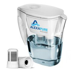 Specifically designed for tap-water toxins and contaminants, the Alexapure Pitcher goes beyond common filters. It can reduce up to of 92 contaminants. Optimum filtration up to 80 gallons or 60 days. Water Filtration Bottle, Water Filtration System, Water Purification, My Patriot Supply, Emergency Food Storage, Water Filter Pitcher, Healthy Water, Water Fasting, Water Storage