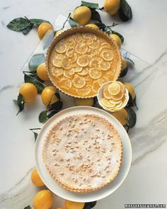 Lemon Pine-Nut Tart by marthastewart #Meyer_Lemon #Pine_Nut #Torte