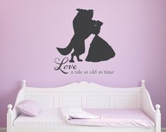 Beauty and the beast Tale as old as time princess girls vinyl wall decal by GrabersGraphics on Etsy https://www.etsy.com/listing/182231327/beauty-and-the-beast-tale-as-old-as-time