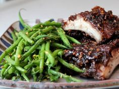 Get Bal Arneson's Maple Date Short Ribs and Green Beans with Cilantro Recipe from Cooking Channel