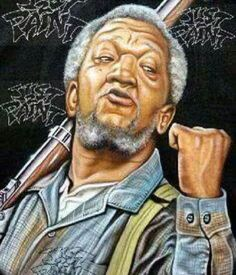 Artwork of Fred Sanford of Sanford and Son - Redd Foxx. Black Love Art, My Black Is Beautiful, African American Art, African Art, African Culture, American Women, Redd Foxx, Sanford And Son, Black Art Pictures