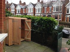 Brighton Bike Sheds, Built to fit your space Bike Shed, Bike Store, Outdoor Sheds, Shed Plans, Hedges, Brighton, Outdoor Structures, Storage Ideas, Building