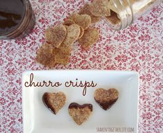 baked cinnamon sugar churro crisps with hot fudge sauce at shakentogetherlife.com