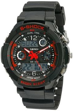 cool Susenstore Multi Function Military S-shock Sports Watch LED Analog Digital Waterproof Alarm (Red) - For Sale Check more at http://shipperscentral.com/wp/product/susenstore-multi-function-military-s-shock-sports-watch-led-analog-digital-waterproof-alarm-red-for-sale/