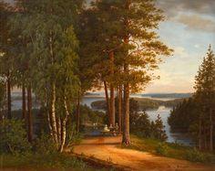 Magnus von Wright (Finnish, 1805–1868) View from Kaukola, 1865 - View past auction results for Magnus von Wright on artnet