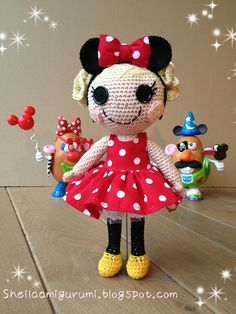 Lalaloopsy fashion by Sheila Amigurumi, via Flickr Free Link To Pattern