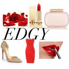 """edgy valentine"" by jelena-peranic on Polyvore"