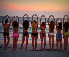 Friends on the beach<3 sisters and cousins will do this