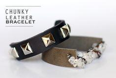 8-Step Trendy Leather Bracelet Tutorial