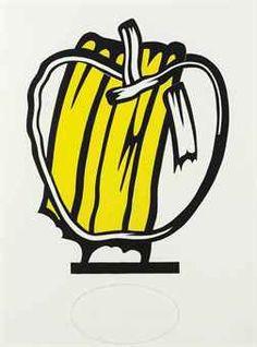 Roy Lichtenstein - Yellow Apple (Study)  (1980)