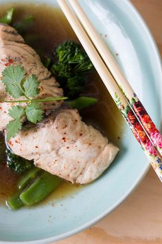 This simple 15 Minute Poached Barramundi recipe is a tasty and nutritious idea for a weeknight meal. Served with greens, steamed over the poached fish. Fish Recipes, Seafood Recipes, Great Recipes, Favorite Recipes, Healthy Recipes, Healthy Meals, Healthy Food, Yummy Food, Seafood Dishes