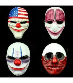Halloween Fine Collection Payday2 Theme Collector-s Edition Game Harvest Day 2 Series Mask Resin Crafts YTCR0125