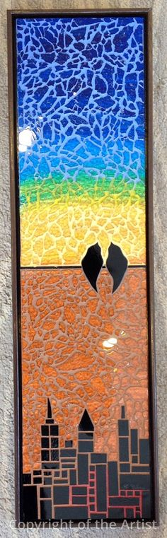 A Shared Moment 2 by Cristina Ciloci ~  Maplestone Gallery  ~  Contemporary Mosaic Art