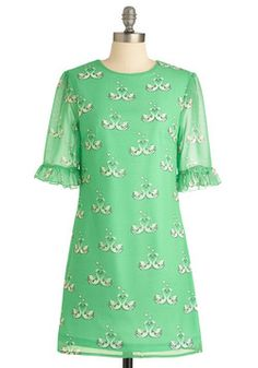 NOT FOR SWAP OR SALE - The Swan I Love Dress (M)- #ModCloth July 2012. #modcloth and #partydress for St. Patty's day