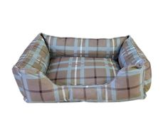Carolina Pet Company Brutus Tuff Kuddle Lounge Bolster Dog Bed Color: Blue / Brown Plaid, Size: Extra Large L x W) Bolster Dog Bed, Cool Dog Beds, Dog Carrier, Pet Beds, Bed Furniture, Blue Plaid, Blue Brown, Dog Cat, Lounge