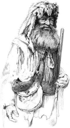 Mountain Man                                                                                                                                                                                 More Indian Pictures, Guy Pictures, Western Riding, Western Art, Train Tattoo, Mountain Man Rendezvous, American History, Fur Trade, Tatoo