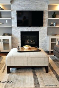Ceramic Fireplace Stones Family Room Redesigned The Original Black Tile Surround Had To Change