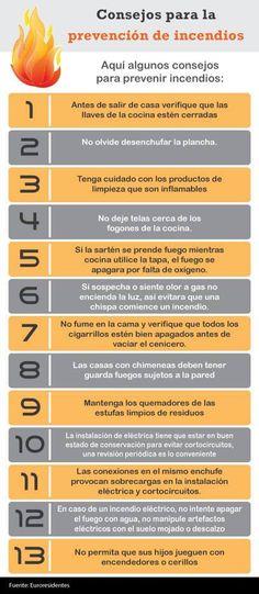 Consejos para la prevención de incendios.
