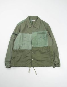 Needles Rebuild olive coach jacket
