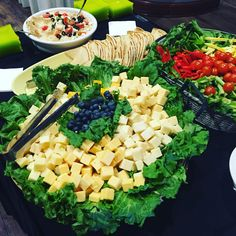Cheese Platter, Veggie Platter with Hummus & Pita! Appetizers available on Olivia's Shower Menu Buffet!