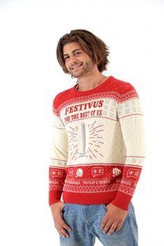 Shop Men's Seinfeld Festivus For The Rest Of Us Pole Sweater at UglyChristmasSweater.com Fans of Seinfeld will appreciate your ugly sweater. FAST Shipping. SHOP NOW!