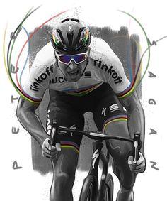 The boss Peter Sagan illustration for socratesdergi by huseyinsandik Cycling Tattoo, Cycling Art, Sports Personality, Bike Parking, Bicycle Art, Bike Life, Triathlon, Cool Art, Athlete