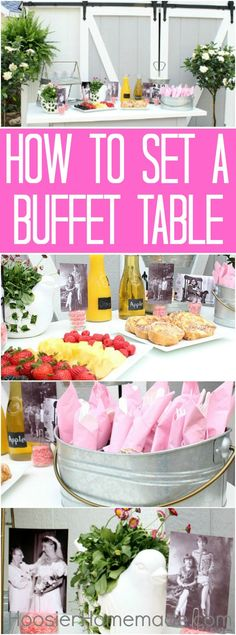 BUFFET TABLE - How t
