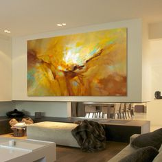 Modern Art a Conspiracy Theory – Buy Abstract Art Right Your Paintings, Original Paintings, Orange Painting, Blue Abstract, Frame Shop, Green And Orange, Modern Art, Street Art, Arts And Crafts