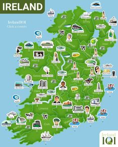 Ireland 101 - Map of Ireland. Super simplistic but easy to use at a glance. - Ireland 101 – Map of Ireland. Super simplistic but easy to use at a glance. Republic with Eire Ireland Map, Ireland Travel, Galway Ireland, Tourism Ireland, Ireland Pubs, Dublin Travel, England Ireland, Ireland Vacation, Thinking Day