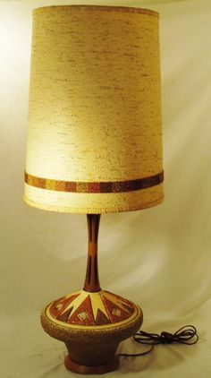 Vintage Mid Century Bertolo Table Lamp With Shade