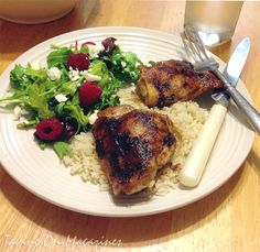 Spiced Chicken Thighs with Garlicky Rice from Cooking Light Magazine, July 2013
