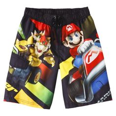 Super Mario Brothers Boys' Swim Trunk