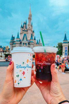 Our Day at Walt Disney World's Magic Kingdom (+video) - Simply Taralynn Disney Mug, Disney Drinks, Disney Desserts, Disney Snacks, Disney Pixar, Disney Songs, Disney Quotes, Comida Disney World, Disney World Food