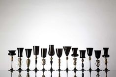 Michael Schunke Hand-Blown Glass Goblets - Michael Schunke