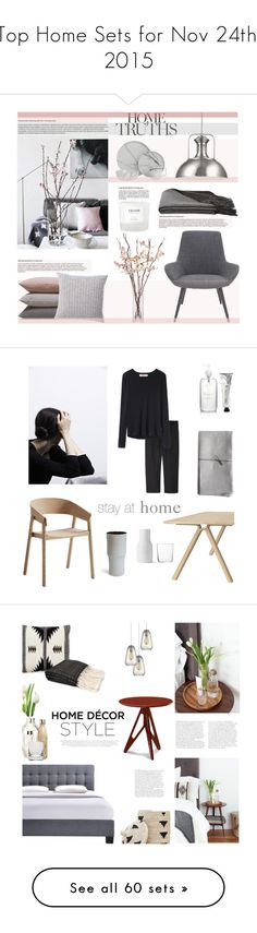 """""""Top Home Sets for Nov 24th, 2015"""" by polyvore ❤ liked on Polyvore featuring interior, interiors, interior design, home, home decor, interior decorating, Holiday Lane, Canopy Designs, a&R and Hawkins"""