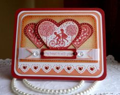"""Stampin up! Martha Stewart - Handmade """"My Heart is With You"""" card - NEW"""