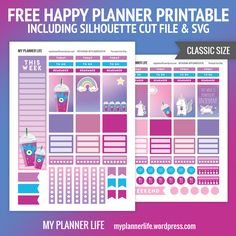 Lovely Free Happy Planner Printable Unicorn Frappe