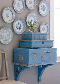plain wooden craft store boxes get a makeover