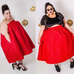 Red Convertible Cupcake Dress and Maxi Skirt