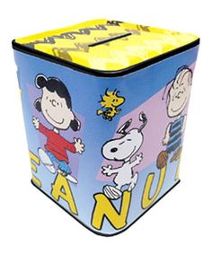 This Peanuts Gang Tin Bank is perfect! #zulilyfinds