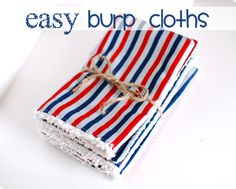 how to sew burp cloths