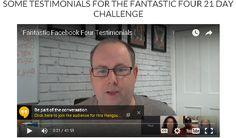 21 Day Facebook Challenge testimonials