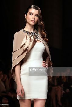 A model walks the runway during Fausto Sarli S/S 2013 Italian Haute Couture colletion fashion show as part of AltaRoma AltaModa Fashion Week at Santo Spirito In Sassia on January 26, 2013 in Rome, Italy.