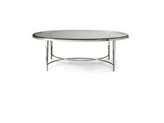 Baker Furniture Thomas Pheasant Chloe Oval Cocktail Table