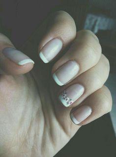 Flowerish French Nails