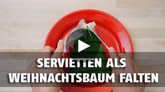 Sie Haben Lust Eine Nette Deko Idee Für Den Weihnachtstisch Anzubieten?  Probieren Sie Einfach Diese Serviette Zu Falten!