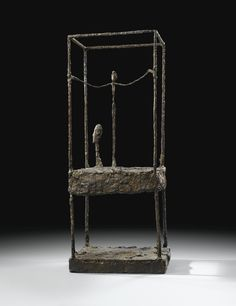 Alberto Giacometti 1901 - 1966 LA CAGE, PREMIÈRE VERSION inscribed Alberto Giacometti, numbered 00/8 and inscribed Susse Fondeur Paris bronze, height: 90.5cm. 35 5/8 in. Executed in 1950 and cast in bronze by the Susse Foundry in an edition of 12 in 1990-91. The present work was cast in 1991. | Sotheby's